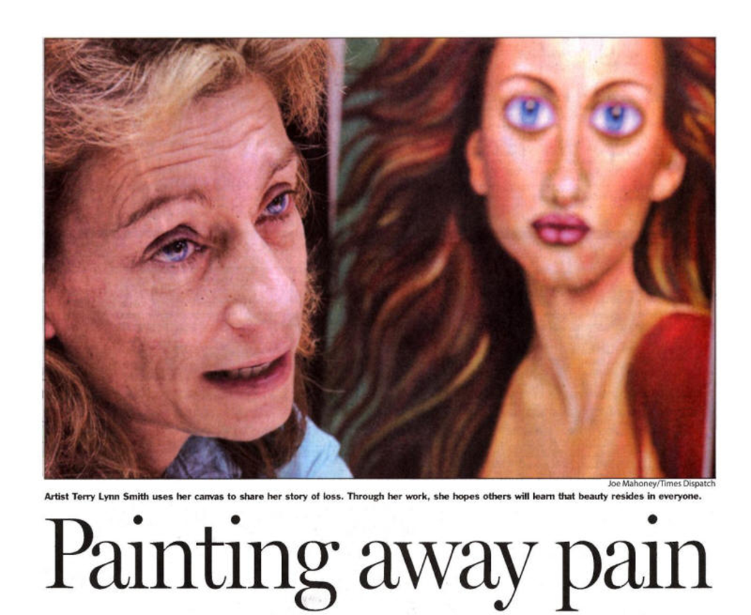 2005 Richmond Time Dispatch Article, Painting Away The Pain, Terry Lynn Smith Part 1