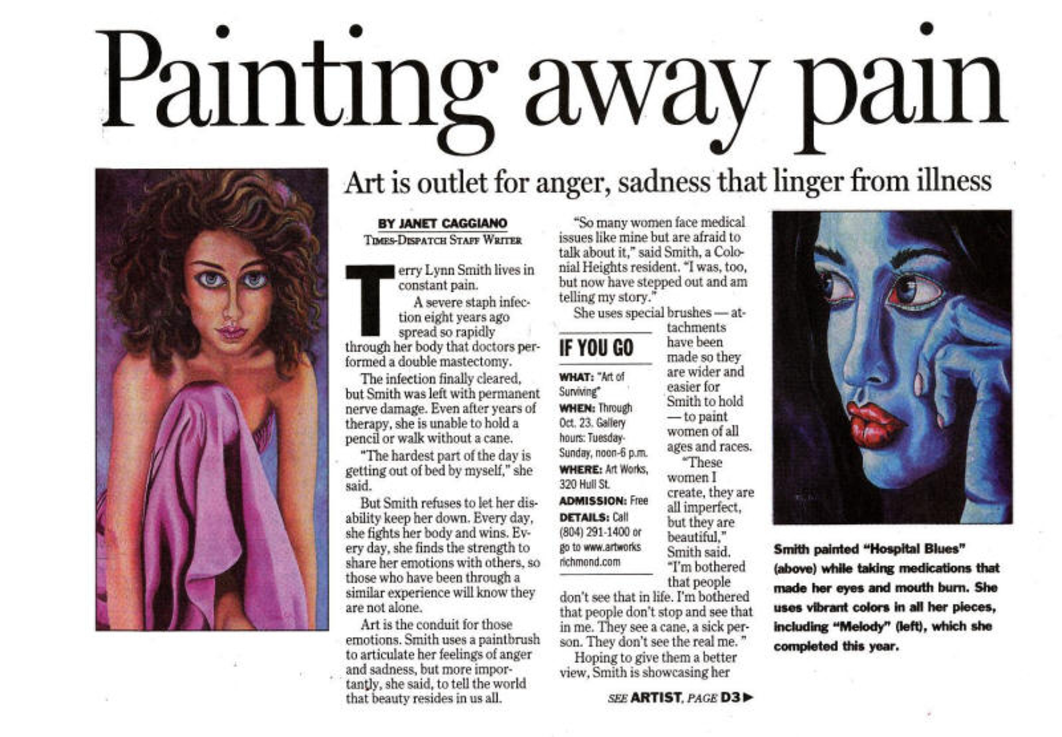 2005 Richmond Time Dispatch Article, Painting Away The Pain, Terry Lynn Smith Part 2